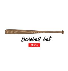 hand drawn sketch wood baseball bat vector image