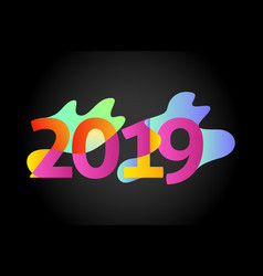 happy new year 2019number 2019numeral 2019 vector image
