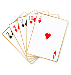 high card playing cards vector image