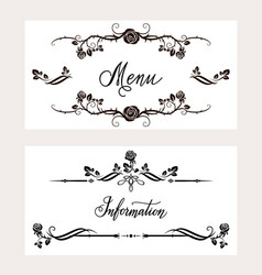 Holiday invitation cards set vector