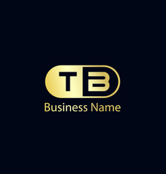 initial letter tb logo template design vector image