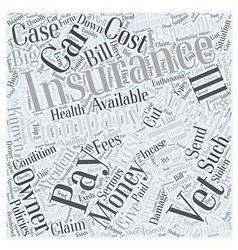 Insurance for Pets Word Cloud Concept vector