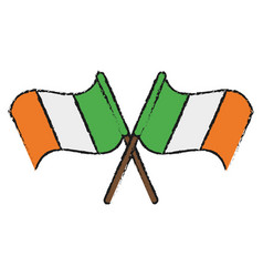 ireland flag icon image vector image