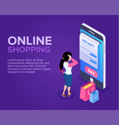 isometric online shopping concept vector image