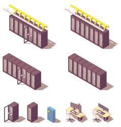 Isometric server equipment vector