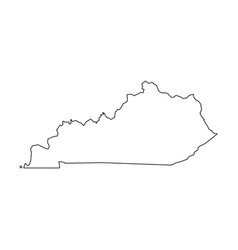 Kentucky state of usa - solid black outline map vector
