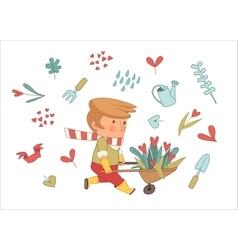 Love Gardener set Dodo people collection vector
