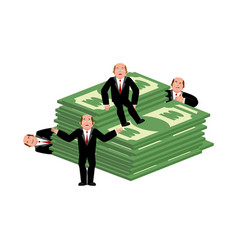 lucky businessman and money business consultant vector image