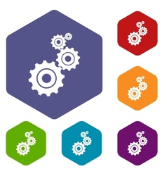 Mechanism rhombus icons vector image