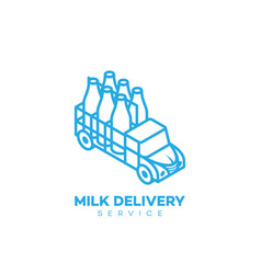 Milk delivery service logo vector