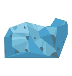 Mineral stone isolated vector image