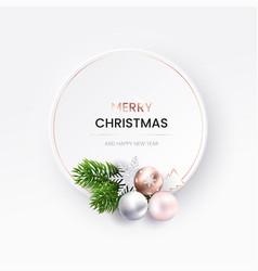 modern christmas greeting card white neumorphic vector image