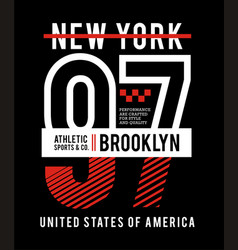New york brooklyn 97 typography for t shirt vector