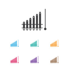 Of analytics symbol on growth vector