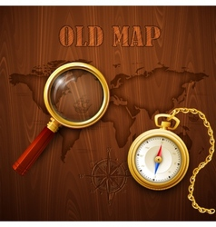 Old map vector