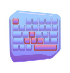 One hand gaming keyboard gaming keypad mini vector