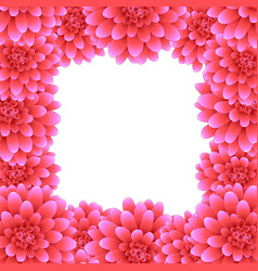 pink dahlia border style 2 vector image