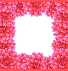 Pink dahlia border style 2 vector