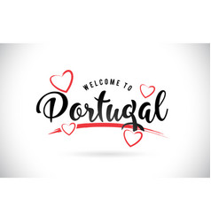 Portugal welcome to word text with handwritten vector