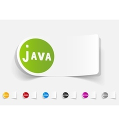 Realistic design element java vector
