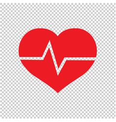 red heart symbol transparent background vector image