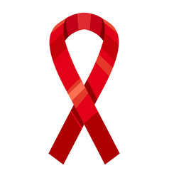 red ribbon icon cartoon style vector image