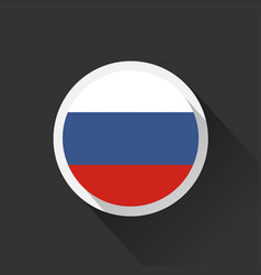 Russia national flag on dark background vector