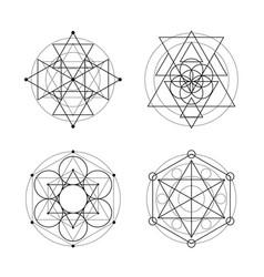 Sacred geometry set vector
