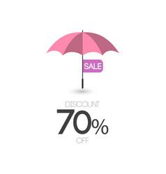 Sale discount 70 off umbrella template design icon vector