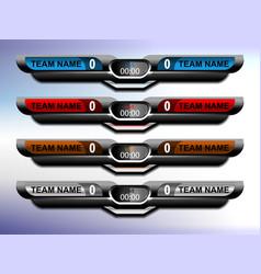 scoreboard sport design vector image