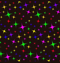 Seamless pattern of colorful stars vector