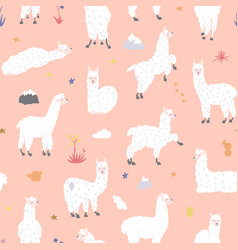 Seamless pattern with llama vector