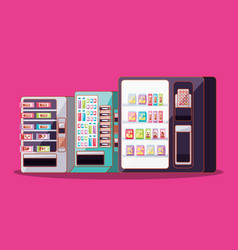 set of dispenser machines electronics vector image