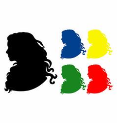 Shadow five profiles vector