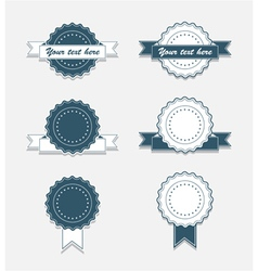 Simple Vintage Badges with Ribbon vector