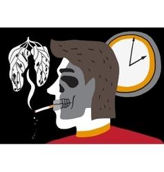 Smoking man vector
