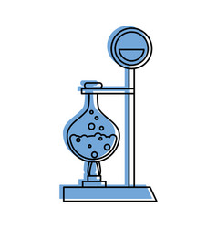 test tube with bubbly liquid science icon image vector image