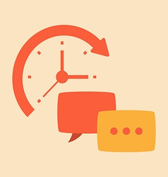 Time intercourse and friendly conversation vector