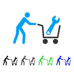 Tools shopping flat icon vector