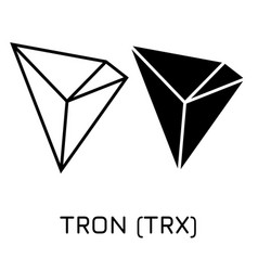 Tron trx crypto coin icon vector