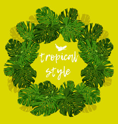 Tropical palm leaves for design elements vector