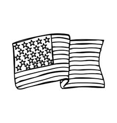 usa flag emblem vector image
