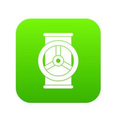 valve icon digital green vector image