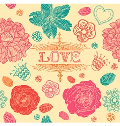 Vintage love textured backgrounds vector image