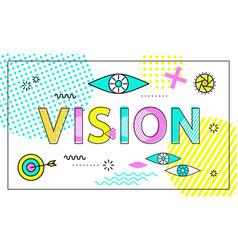 Vision conceptual poster vector