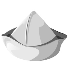 White sea hat isolated vector image