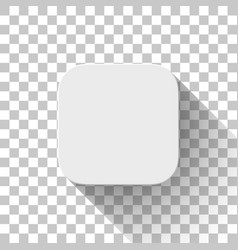 White technology app icon blank template vector