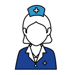 woman nurse avatar character vector image