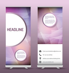 Advertsing roll up banners with abstract design vector image