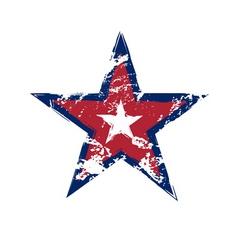 American flag star grunge element vector image vector image